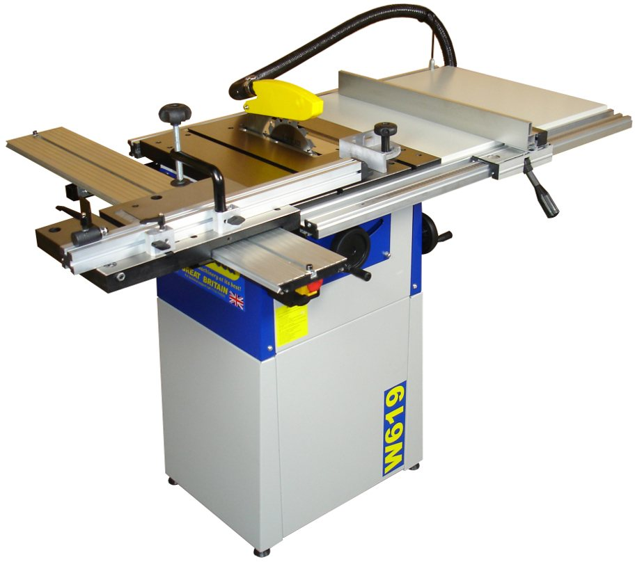 """Charnwood 8"""" Cast Iron Table Saw with Extension Tables ..."""