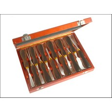 Faithfull 12 piece Woodcarving Set in Case