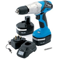 DRAPER 14.4V Cordless Hammer Drill with Two Batteries