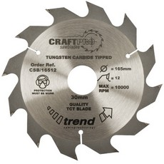 Craft saw blade 165mm x 12 teeth x 30mm
