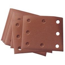 DRAPER Ten 102 x 114mm Assorted Grit Aluminium Oxide Sanding Sheets