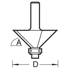 Guided chamfer angle=45 degrees x 31.8mm