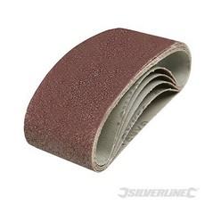 Silverline Sanding Belts 60 x 400mm 5pk To Fit Triton TCMBS