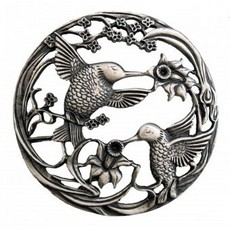 Pewter Lid - Hummingbirds