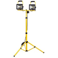 DRAPER Expert 110V Twin COB LED Worklamp (20W) with Telescopic Tripod