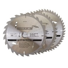 TCT Circular Saw Blades 24, 40, 48T 3pk                                210 x 30 - 25, 16mm rings