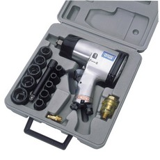 "DRAPER 15 Piece 1/2"" Square Drive Heavy Duty Air Impact Wrench Kit"