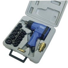 "DRAPER 15 Piece 1/2"" Square Drive Air Impact Wrench Kit"
