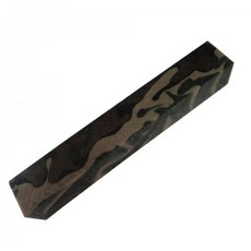 20mm Square acrylic Pen Blank, Brown & Beige Cammo
