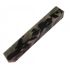 20mm Square acrylic Pen Blank, Green & Brown Cammo
