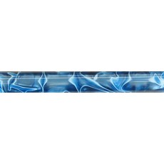 19mm Round Acrylic Pen Blank, Dark Cyan with White Swirl