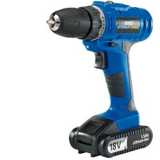 DRAPER Storm Force  Cordless Drill with Li-ion Battery (18V)