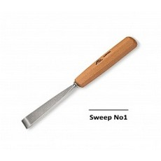 Stubai 20mm Straight Carving Chisel No1 Sweep