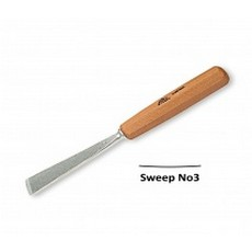 Stubai 20mm Straight Flat Carving Gouge No3 Sweep