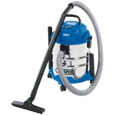 DRAPER 20L 1250W 230V Wet and Dry Vacuum Cleaner with Stainless Steel Tank