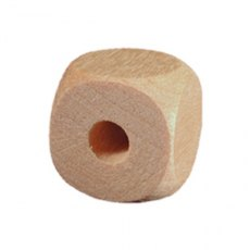 1/2' (12.7mm) Square Wooden Bead Round Edge