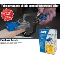"Kreg Jig R3 Jr Package Deal With FREE 2"" Face Clamp"