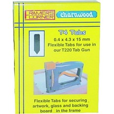 Charnwood T4R Rigid Tabs for T220 & T225, Pack of 2500pcs
