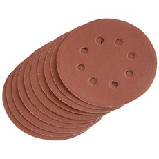 DRAPER Ten 125mm 240 Grit Hook and Loop Sanding Discs