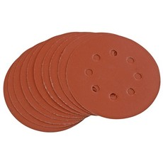 DRAPER Ten 125mm 400 Grit Hook and Loop Sanding Discs