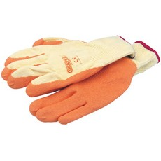 DRAPER Expert Orange Heavy Duty Latex Coated Work Gloves - Large