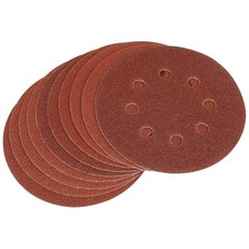 DRAPER Ten 125mm 80 Grit Hook and Loop Sanding Discs
