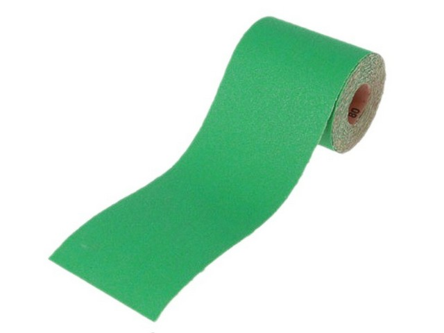 Faithful Faithfull Aluminium Oxide Paper Roll Green 115mm x 5m 40G