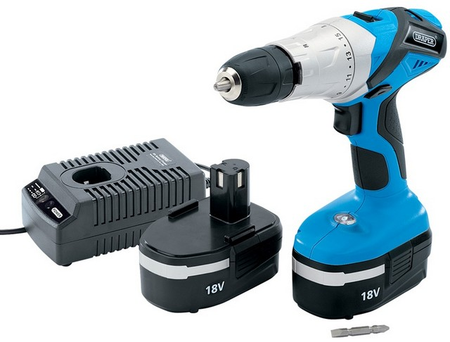 Draper DRAPER 18V Cordless Hammer Drill with Two Batteries