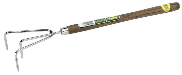 Draper DRAPER Stainless Steel Hand Cultivator with Intermediate Length Ash Handle
