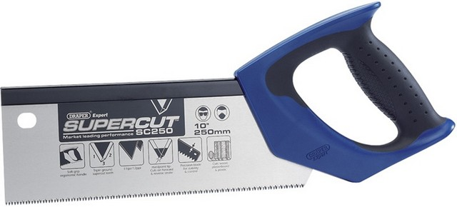 "Draper DRAPER Expert Supercut 250mm/10"" Soft Grip Hardpoint Tenon Saw- 11tpi/12Ppi"