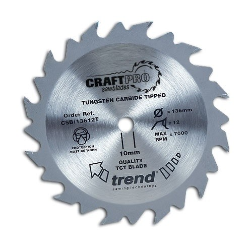 Trend Craft saw blade 165mm x 24 teeth x 30 thin