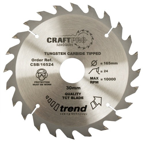 Trend Craft saw blade 215mm x 24 teeth x 30mm