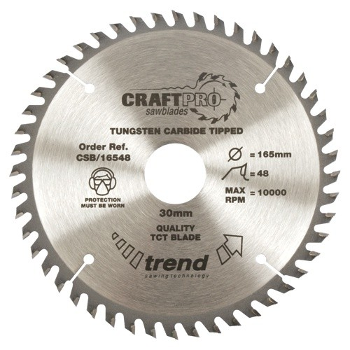 Trend Craft saw blade 215mm x 48 teeth x 30mm
