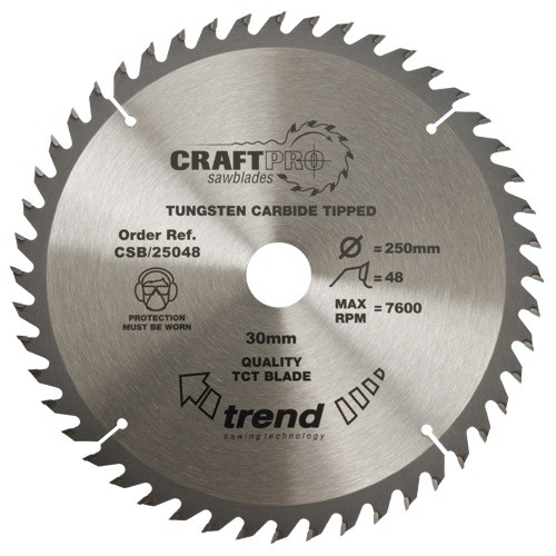 Trend Craft saw blade 315mm x 48 teeth x 30mm