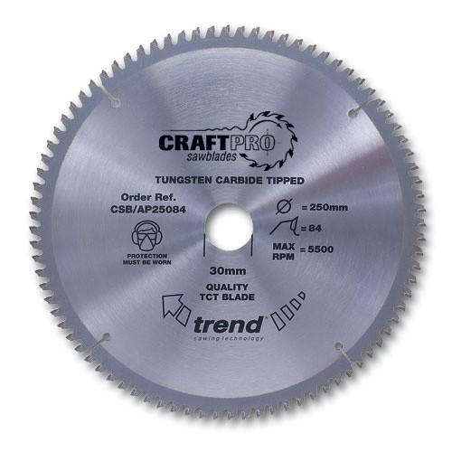 Trend Craft saw blade aluminium and plastic 254 x 80 teeth x 30