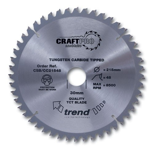 Trend Craft saw blade crosscut 216mm x 60 teeth x 30mm