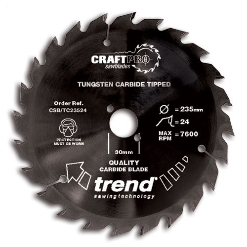 Trend Craft saw blade 184mm x24 teeth x 16mm