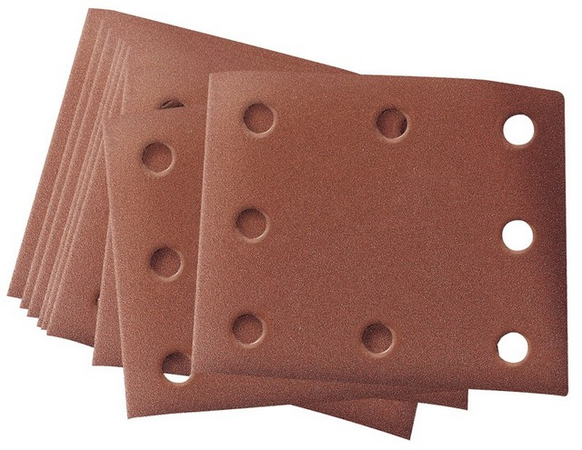 Draper DRAPER Ten 102 x 114mm Assorted Grit Aluminium Oxide Sanding Sheets