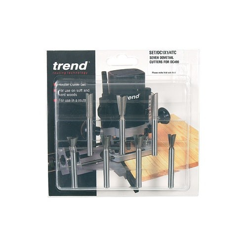 Trend 7 piece dovetail Centre cutter set