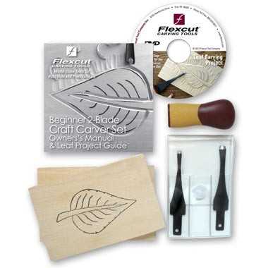 Flexcut Flexcut Beginner 2-Blade Craft Carver Set