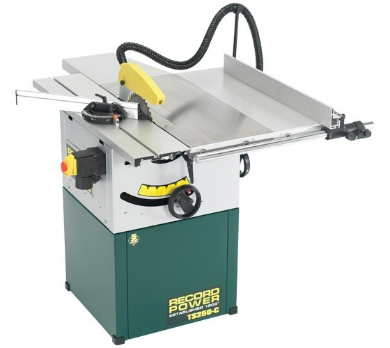 "Record Power Record Power TS250C 10"" Cast iron Cabinet Makers Saw with Right Hand Extension"