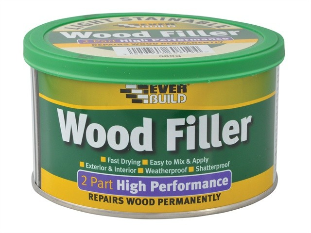 Everbuild Wood Filler High Performance 2 Part Light