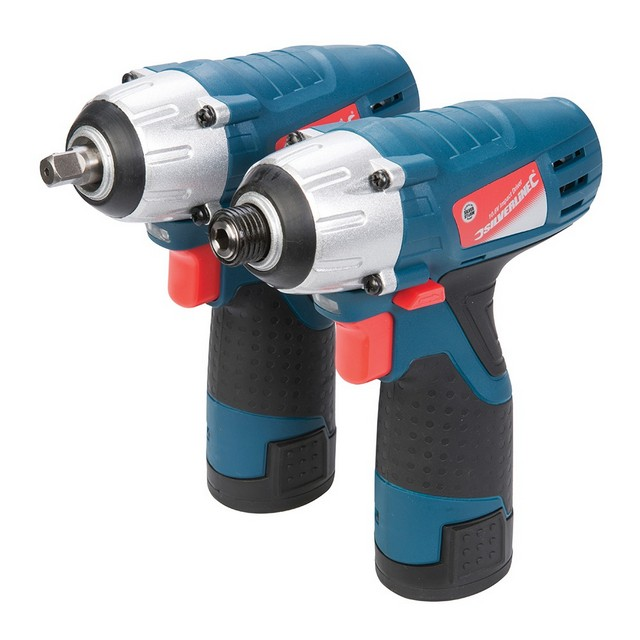 Silverline Silverstorm 10.8V Impact Wrench & Impact Driver Twin Pack 10.8V