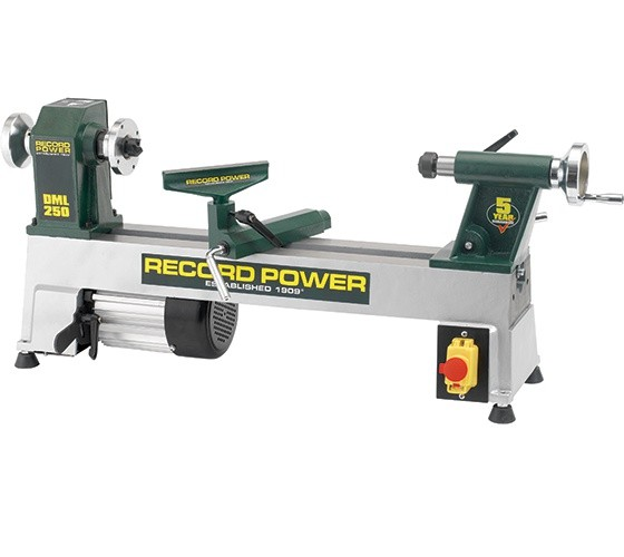 Record Power NEW Record Power DML250 5 Speed Cast Iron Mini Lathe