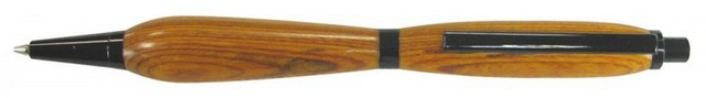 Charnwood 7mm Slimline Click Pencil, Black Chrome