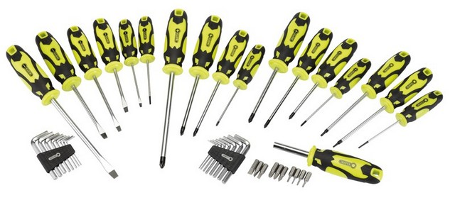 Draper DRAPER 44 Piece Screwdriver, Hex Key and Bit Set (Green)