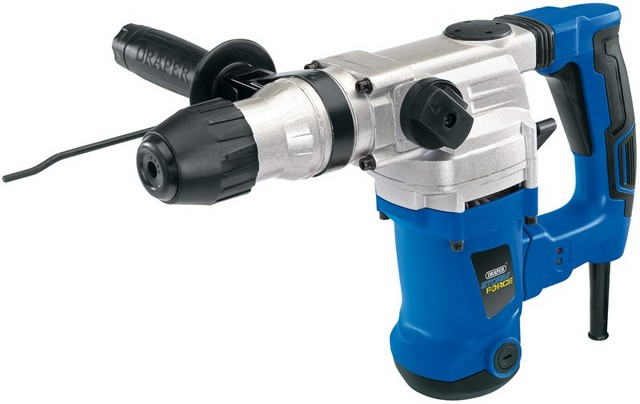 Draper DRAPER Storm Force SDS+ Rotary Hammer Drill Kit with Rotation Stop (1250W)