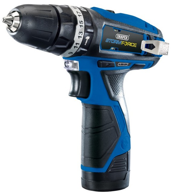 Draper DRAPER Storm Force 10.8V Cordless Hammer Drill with Two Li-ion Batteries