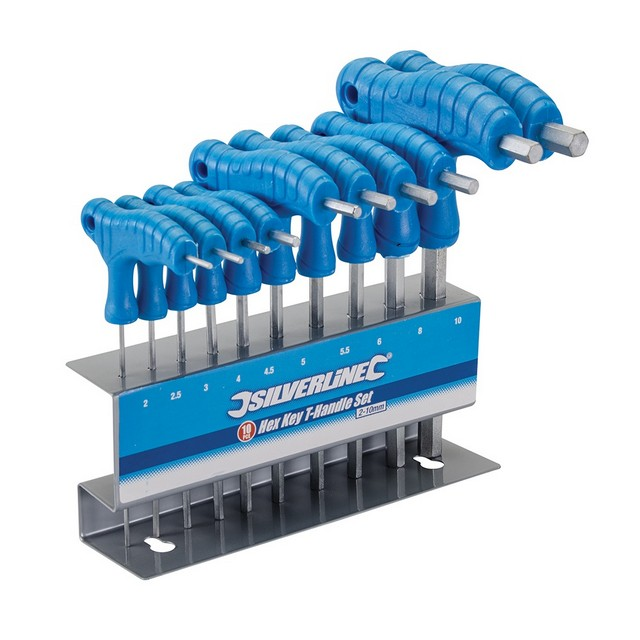Silverline Hex Key T-Handle Set 10pce 2 - 10mm