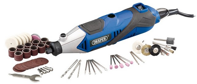 Draper DRAPER 135W 230V Multi Tool with 56 Piece Accessory Kit